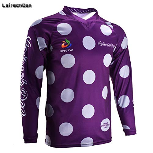 Men/Women Motocross Moto Bycicle Jersey Downhill Tshirt Mountain Bike Clothing Zhaozb (Color : Purple, Size : S)