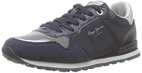 Pepe Jeans London Verona W Light, Zapatillas para Mujer, Navy 595, 38 EU