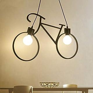 Lampadario in Ferro Lampada a Sospensione Creative Biciclette E27 per Illuminazione Soggiorno Ristorante Camera da Letto
