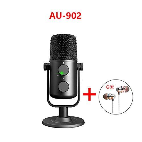WJDASM Altavoz Micrófono de condensador USB Cardioide Sreaming mikrofon Podcast Studio Mic Micrófono de grabación de metal para YouTube Skype, AU, 902