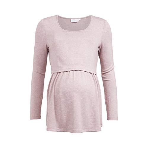 2HEARTS T-Shirt de Grossesse et d'allaitement T-Shirt de Grossesse T-Shirt de Grossesse, Ash Roses