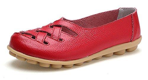 Mocasines Cuero Mujer Loafers Casual Zapatos Conducción