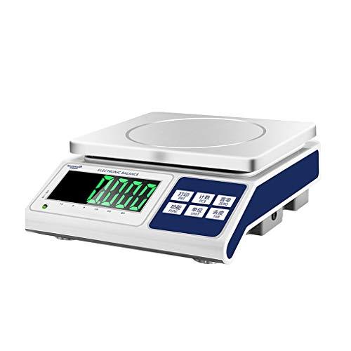 ZCY Elektronische weegschaal, zeer nauwkeurig, 0,1 g, elektronische tellen, wegen gram, weegschaal, commercieel platformweegschaal, kleine industriële weegschaal