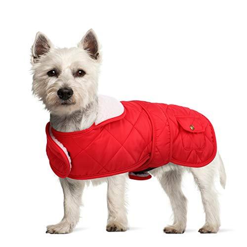 Winter Dog Vest Coat,Windproof Pet Dog Cold Weather Coat Jacket for Small Medium Large Breeds,Fleece...