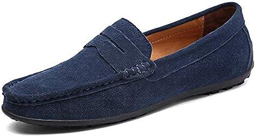 JIALUN-Schuhe Die klassischen Drive Loafers für Herren sind Bequeme Stiefel-Mokassins (Farbe   Faint Blau, Größe   39 EU)
