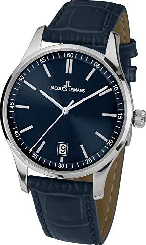 Jacques Lemans Damen-Uhren Analog Quarz One Size Blau 32016857