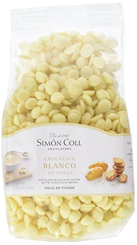 Chocolates Simón Coll - Gotas de Chocolate Blanco, 500 g