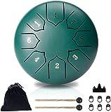 hantop tamburo in acciaio, 6 pollici 8-tone tamburo di lingua in acciaio,tamburo handpan strumento a percussione tamburo a mano, portatile tamburo del handpan per l'educazione alla musica da yoga