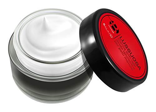 Crema facial antiarrugas antiedad antiedad con ácido hialurónico. Crema hidratante para pieles maduras con la presencia de