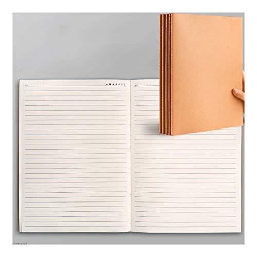 cuadernos de notas 5-pack original Kraft Notebook Colegio dictaminó, cuadrícula y gobernado del cuaderno de negocios Home Office School, Paperback Libreta A5 B5 A4 blocs de notas ( Color : A5 RULED )