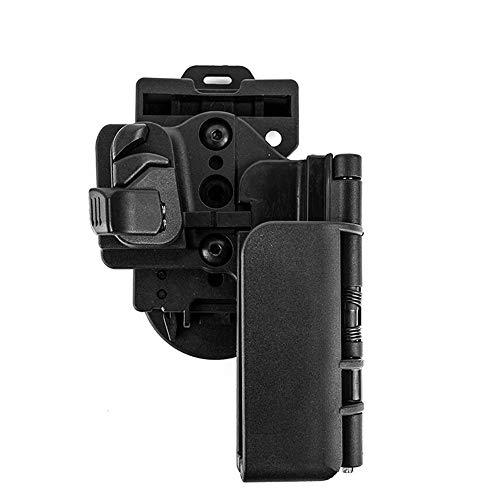 MiOYOOW G19 Holster, Pistole Mag Pouch Holster Außenbund Polymer Holster Verstellbares Pistolenholster mit Gürtelclip