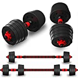 MALELION Adjustable dumbbells set for men free weights for men barbell weights set barbell and dumbbell weights set for fitness strength training (30)