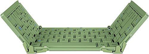 FANG Teclado Plegable, Teclado Inalámbrico Plegable Bluetooth con Carcasa De Aleación De Aluminio, Teclado Plegable Compatible, Tabletas, Computadoras Portátiles Y Más con iOS Windows Android,Green