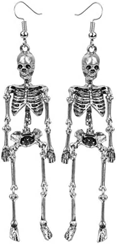 Szxc Women s Jointed Skeleton Dangle Long Earrings 3 1 2 Inch Ultra Light Lead Nickle Free Halloween product image