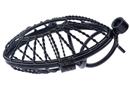 Roo-16HAO New Black Design Firmly Breathable Tennis Cage with Lock (45mm) -367