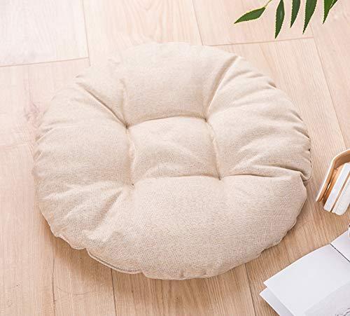 Square Seat Cushion,thicken Burlap Leisure Chair Tatami Cushion Indoor Bedroom Living Room Single Bed Cushion 44x44cm Khaki