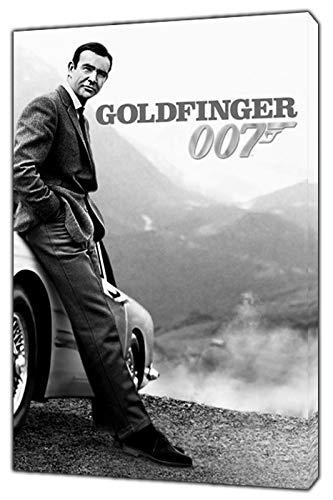 Sean Connery 007 - Stampa fotografica su tela incorniciata, motivo: James Bond, Tela in tessuto, 16'' x 12'' inch(40x 30 cm) -38mm depth