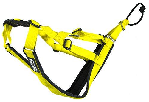 Neewa Verstellbare Schlitten Pro Geschirr (klein, gelb), Hundegeschirr Große Rasse Hund Ziehgeschirr Riesiges Hundegeschirr Schlitten Geschirr zum Ziehen, Ideal für Hunde Joring