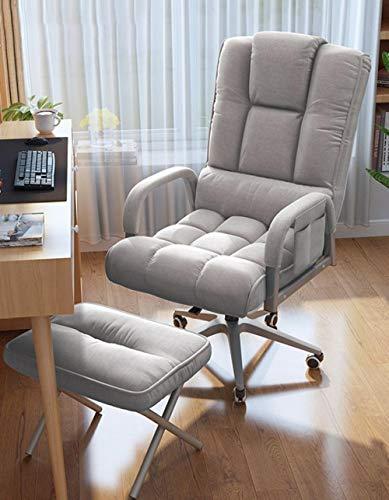 Breiter Patio Liegestuhl,Bürostuhl, Spielstuhl Drehstuhl Für Erwachsene, Computertischstuhl Mit Fußstütze-Fünf-Krallen-Grau