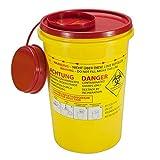 SANISMART Abwurfbehälter für Kanülen mit Sicherheitshinweisen