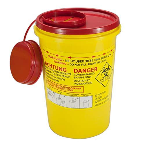 Sanismart contenedor de lanzamiento para agujas con información de seguridad