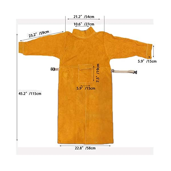 Jewboer Leather Welding Apron Jacket 2