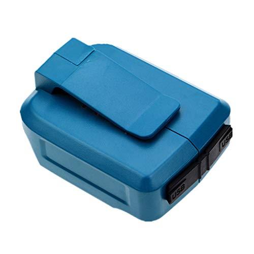 Kcibyvx Adaptateur de charge USB pour Makita ADP05 14-18 V Li-Ion, bleu