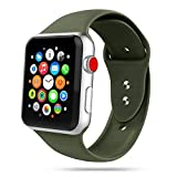 Tech-Protect Cinturino per Apple Watch da 42 mm e 44 mm, compatibile con iWatch Series SE/6/5/4/3/2, cinturino sportivo, in morbido silicone, colore: verde militare