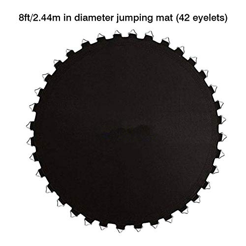 N/Y Trampoline Replacement Mat,Heavy Duty Jumping Surface for 8ft/10ft/12ft/14ft/16ft Round Trampoline with 42/56/64/72/100 V-Rings for 5.5'/6.5'/7' Springs