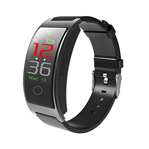 FZXL 2021 CK11C Smart Watch Hombres Temperatura Temperatura Monitoreo de Ritmo cardíaco Smart Brazalet Women IP67 Smartwatch Bluetooth a Prueba de Agua para Android iOS,A