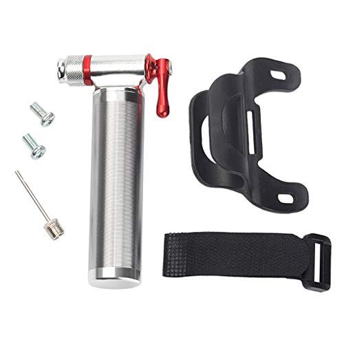 Milageto Bomba de Inflado de Aire con Válvula de Presión de CO2 para Neumáticos de Bicicleta - Bomba de Mano para Bicicleta