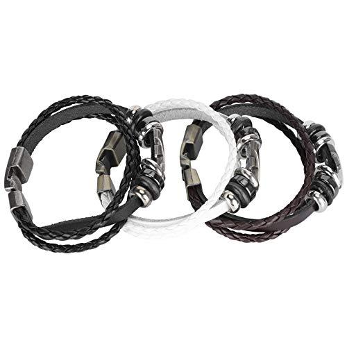 Asixxsix Handgefertigte Armreifen, Schmuckzubehör, qualitätsgeprüftes Strickarmband, Paararmband, für Schulfeiern Frauenreisen