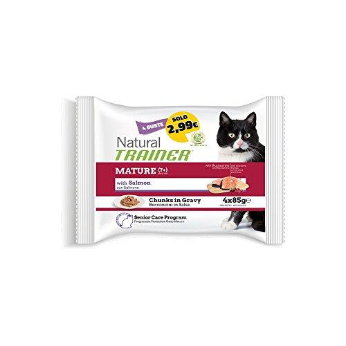 TRAINER Trainer Natural Cat Flow Senior Salmone GR. 85 X 4 Cibo Umido Per Gatti