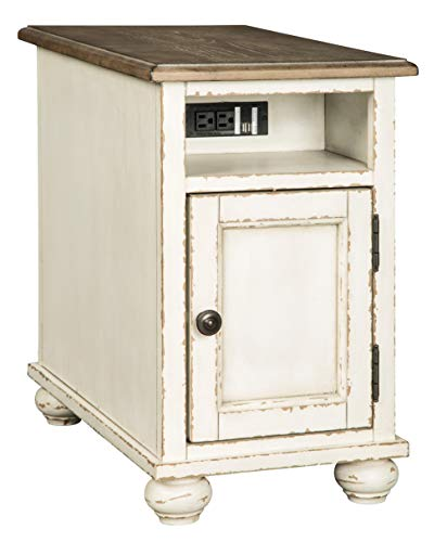Signature Design by Ashley Realyn Chair Side End Table, 024052537178, White