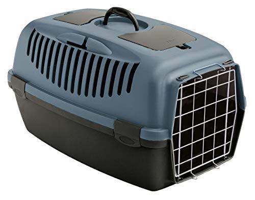 Stefanplast Transportbox Katzenbox Hundebox Katzentransportbox Autobox Gulliver 3 - Grau-blau