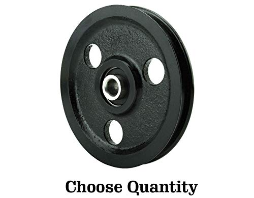 Great Features Of 4 Cast Iron Pulley with Bearing - Garage Door Parts 4 Sheave Pulley (2)