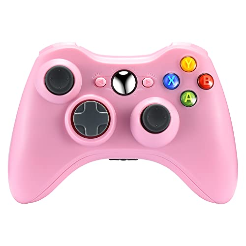 Puning Replacement Wireless Controller Compatible with Xbox 360 Controller,Wireless Game Controller Joystick for Xbox&Xbox Slim 360(Pink)