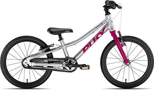 Puky LS Pro 18-1 Alu Kinder Fahrrad silberfarben/Berry