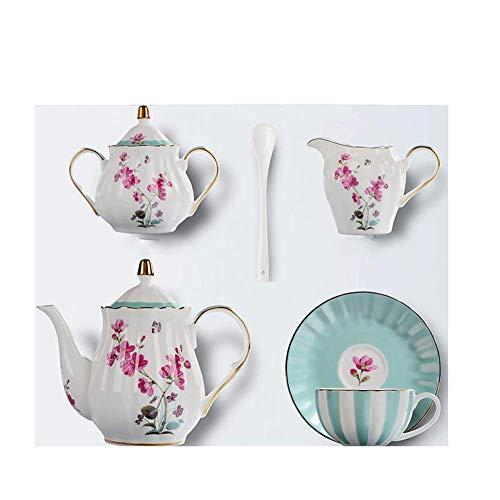 NAFE 21-piece European Bone Porcelain Coffee Cup Set, English Afternoon Tea Set, Household, Wedding Gift Tea Set