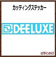 【ロゴ・文字】DEE ステッカー (ホワイト, 横8x縦1.5cm 2枚組)