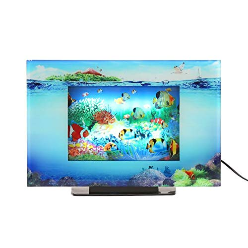 Lightahead LCD Scenery Aquarium Lamp. Artificial Sensory Aquarium. Tropical Fish Decorative Lamp. Virtual Ocean in Motion (Fish)