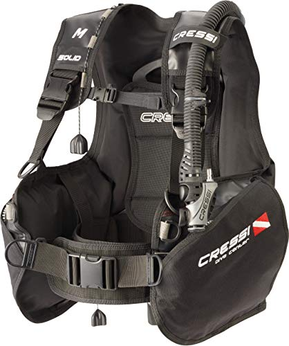 Cressi Solid Dive Center Edition Chaleco Hidrostático para Buceo, Unisex-Adult, Negro, M