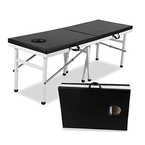 GYLJJ Massage tafel, Professionele opklapbare massagetafel 2-voudig, draagbaar Eenvoudige installatie Ergonomisch (draagvermogen tot 500 kg)