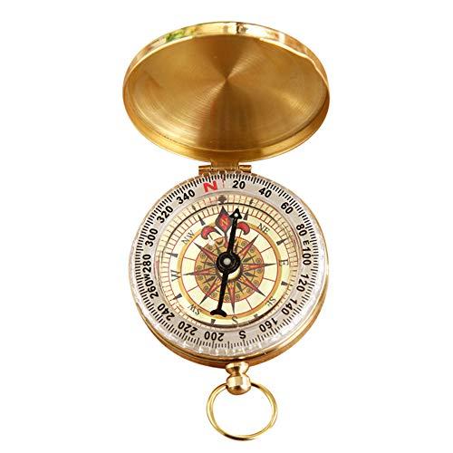 Brújula de bolsillo Profusion Circle Vintage de cobre con tapa para navegación...
