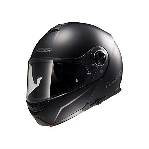 LS2 50325 10 11 Casque Modulable Strobe FF325, Noir Mat, Taille XXL