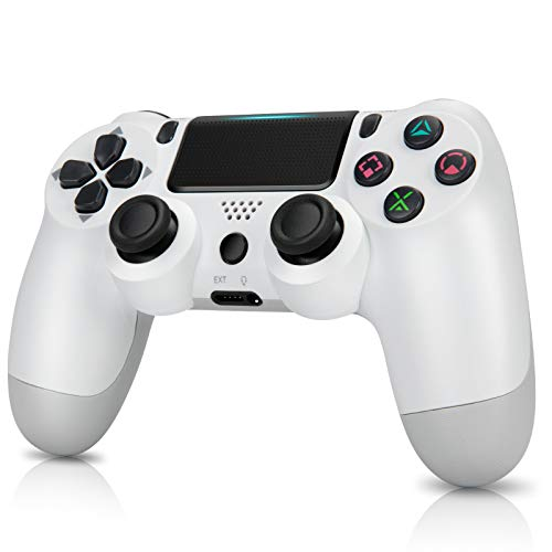 Wireless Controllers for PS4,Remote for DualShock 4,Game Control Compatible for Playstation 4-with Charging Cable (White)