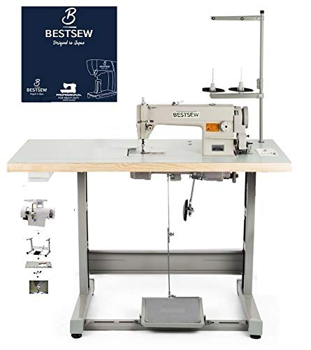 Industrial Sewing Machine Bestsew B-8700 Lockstitch Sewing Machine Servo Motor + Table Stand Cut Juki DDL8700 + LED Lamp Commercial Grade Sewing Machine