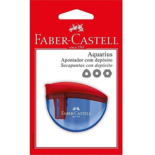 Apontador com Depósito, Faber-Castell, SM/AQUARIUS, Aquarius, Cores Sortidas