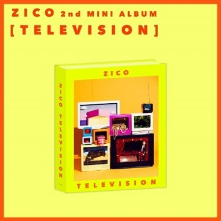 Block B Zico Television 2nd Solo Mini Album CD Poster on pack Booklet Sticker Toy Card product image