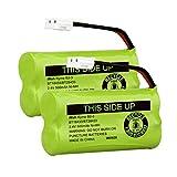 iMah BT18433/BT28433 2.4V 500mAh Ni-MH Cordless Phone Battery, Also Compatible with AT&T VTech BT184342/BT284342 BT8300 BT1011 BT1018 BT1022 BT1031 2SN-AAA55H-S-J1 CS6120 CS6209 CL80109, Pack of 2